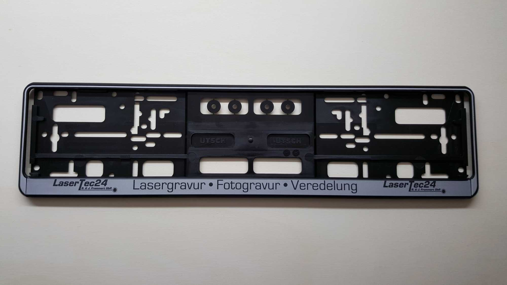 Nummernschildhalter Kennzeichenhalter + individuelle Lasergravur | eBay